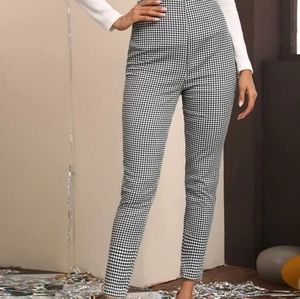 89th & Madison Gingham Check Ankle Cropped Pants Pin-Up Rockabilly